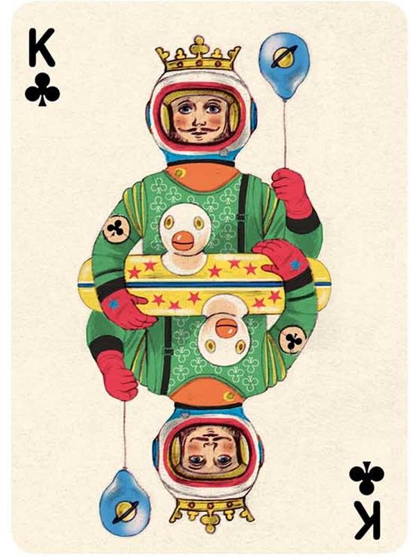 Les rois, les reines de cartes