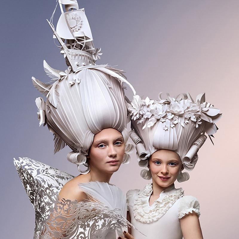 coiffures papier artistiques baroque Asya Kozina