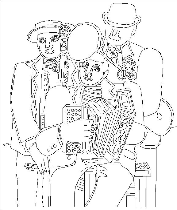 Les trois musiciens de Fernand Leger