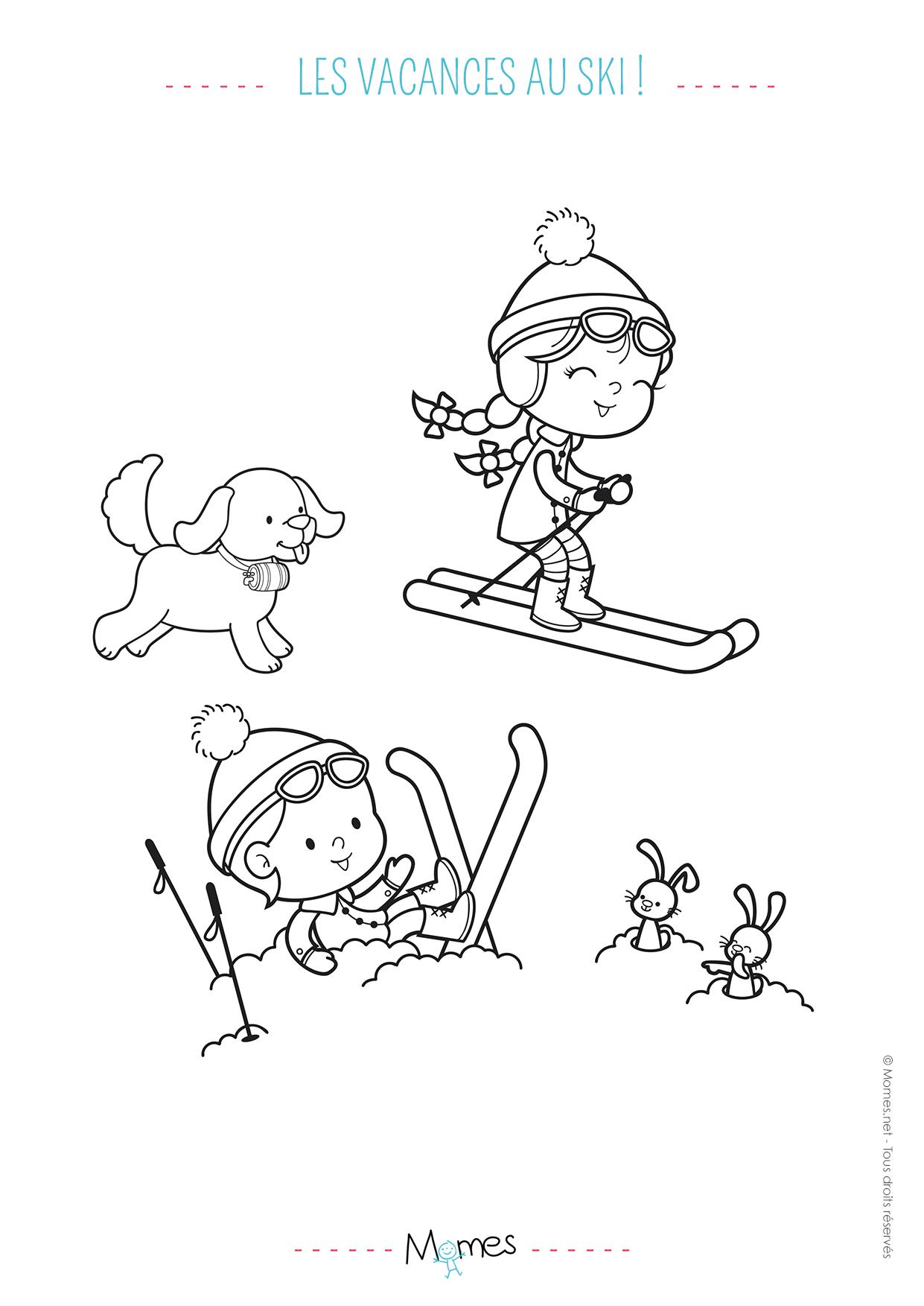 Les vacances au ski - Dessin sur l hiver ...