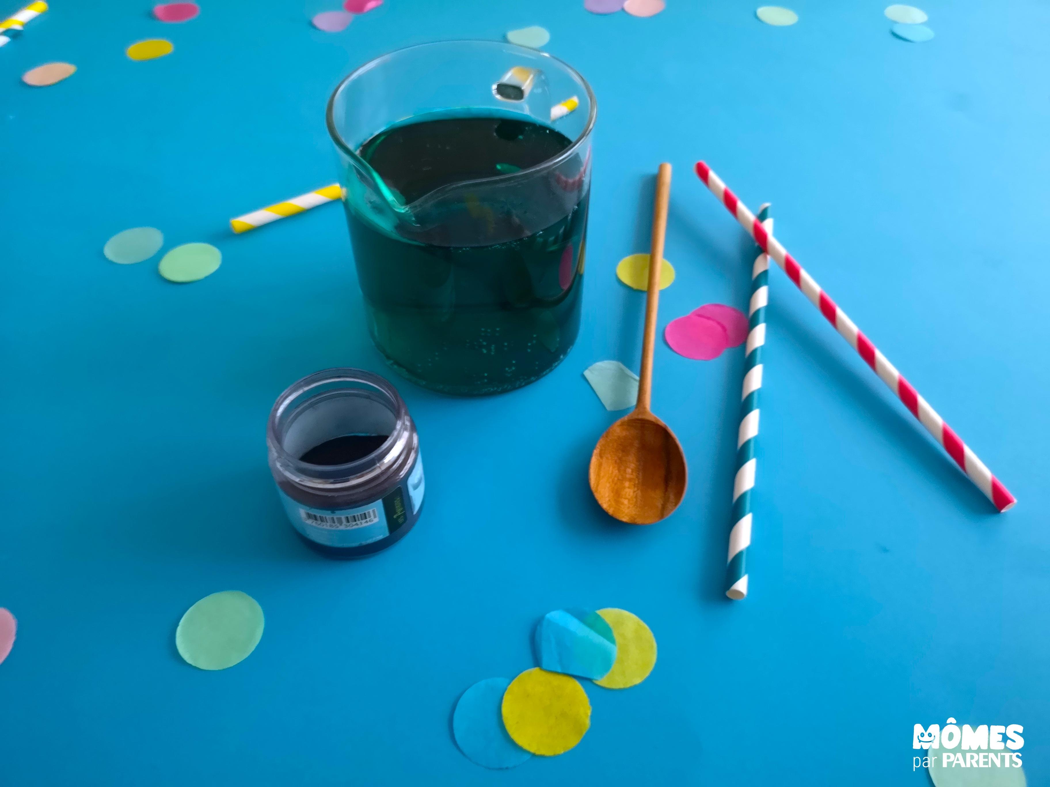 limonade bleue boisson rainbow