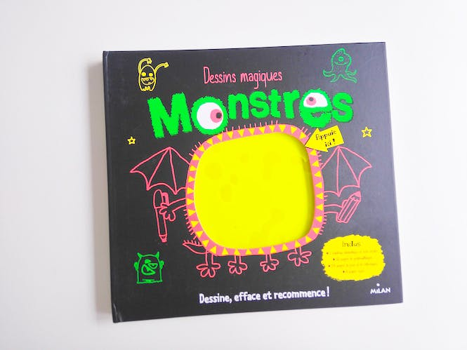 livre dessins magiques monstres