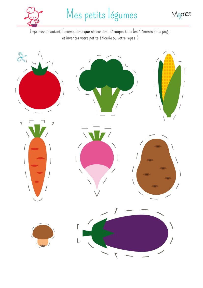 Préférence Ma petite dinette : les légumes - Momes.net BV13