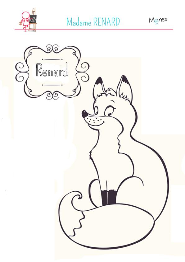 Coloriage Madame Renard