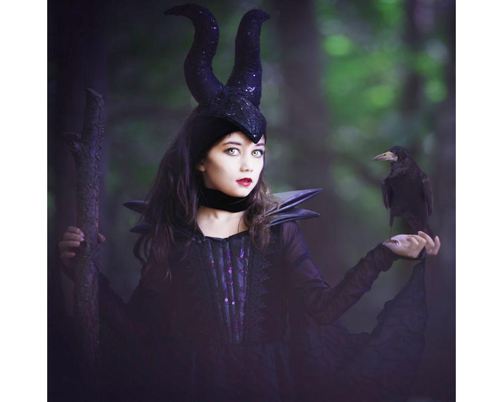 Maléfique déguisements costume Halloween enfants