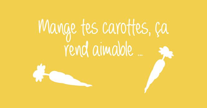 manges des carottes