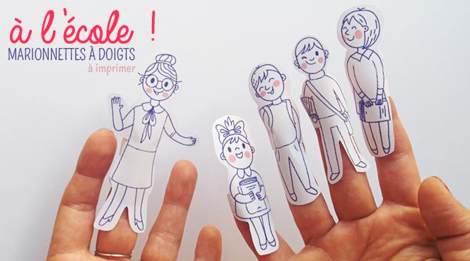 marionnettes à doigts école à imprimer