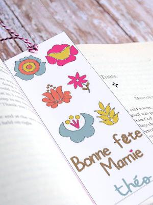 """Marque page """"Bonne fête mamie"""""""