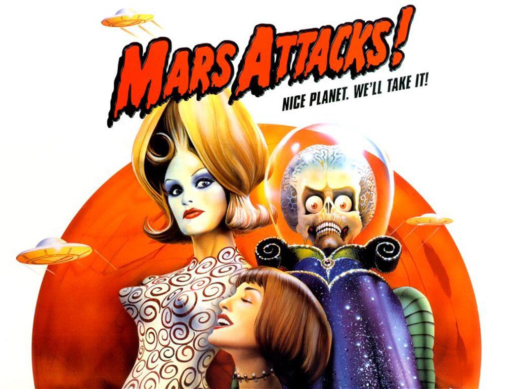 Affiche Mars Attacks
