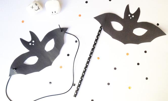 Les masques du carnaval le masque de chauve souris for Gabarit chauve souris a imprimer