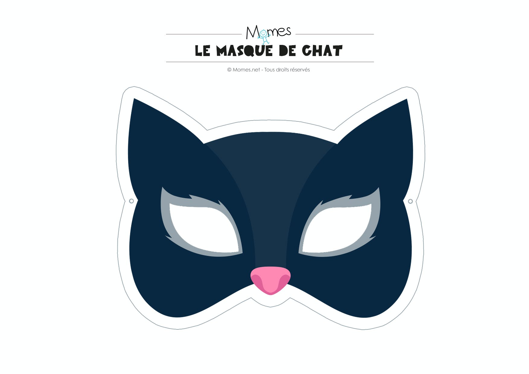 Masque de chat - Chat coloriage masque ...