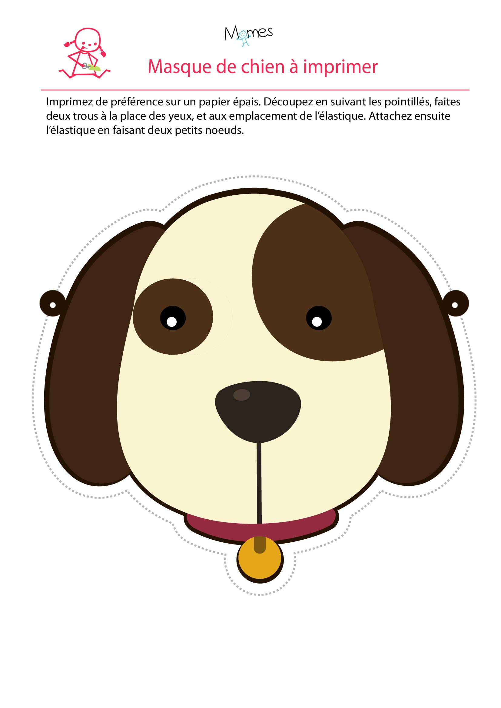 Masque de chien - Image de chien a imprimer ...