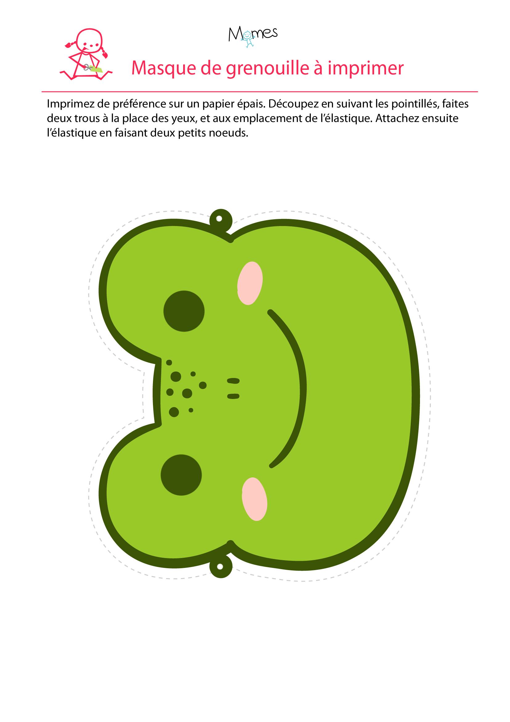 Masque de grenouille à imprimer
