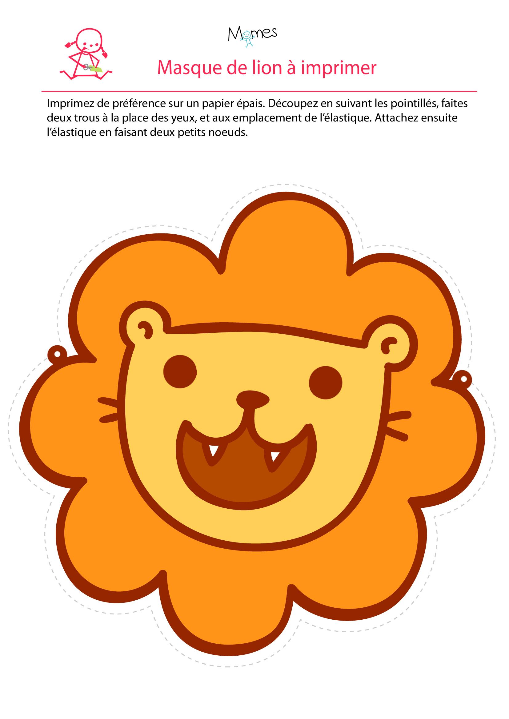 Masque de lion - Images de lions a imprimer ...