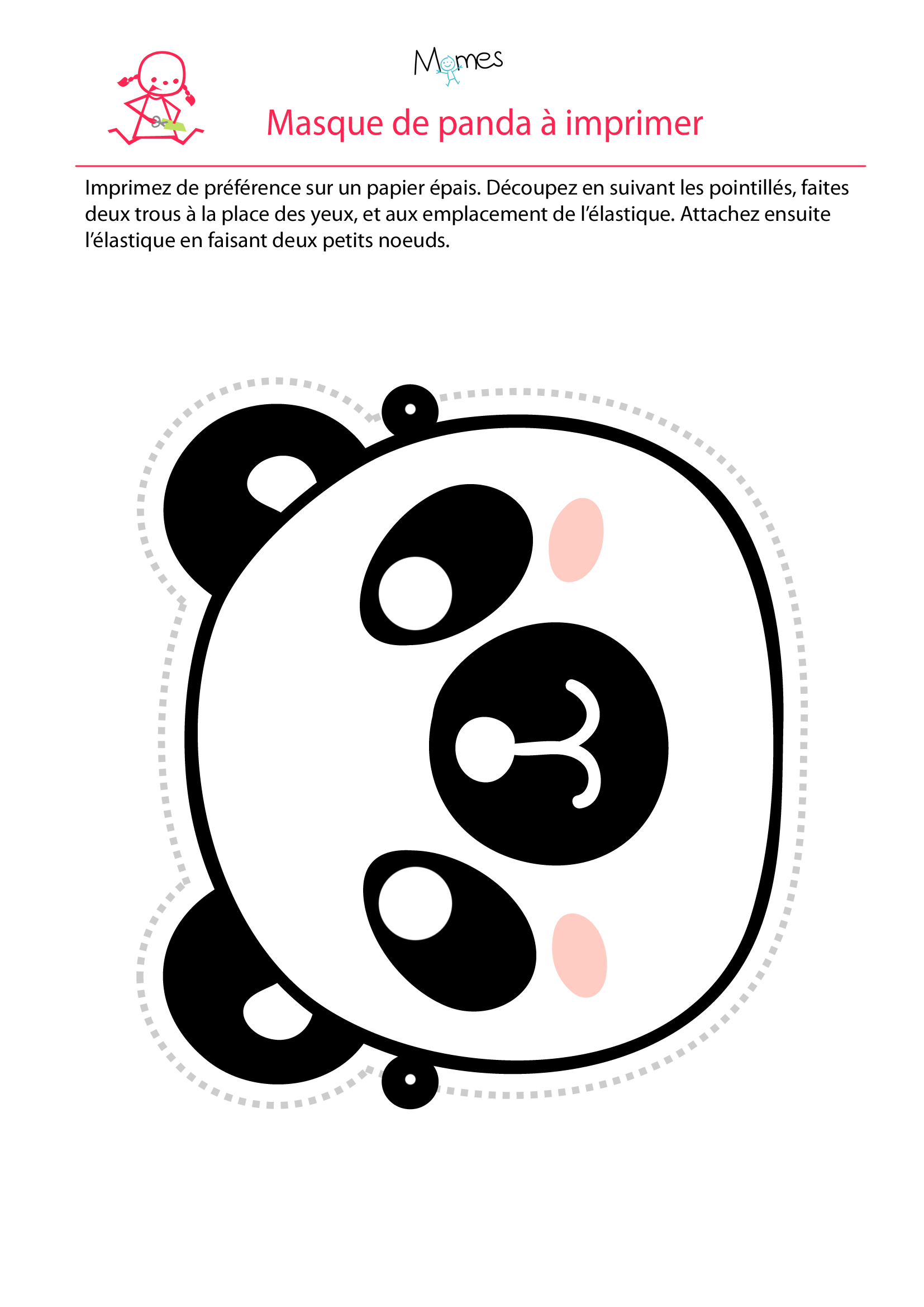 Masque de panda - Image de panda a imprimer ...