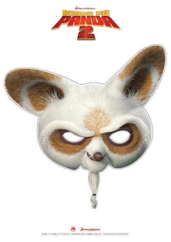 Masque de po kung fu panda - Coloriage kung fu panda ...
