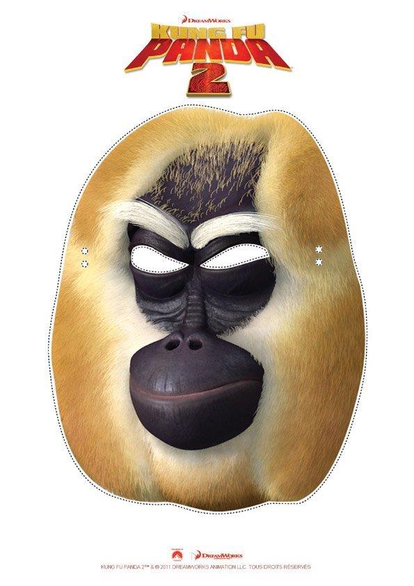 Masque de singe kung fu panda - Image de panda a imprimer ...