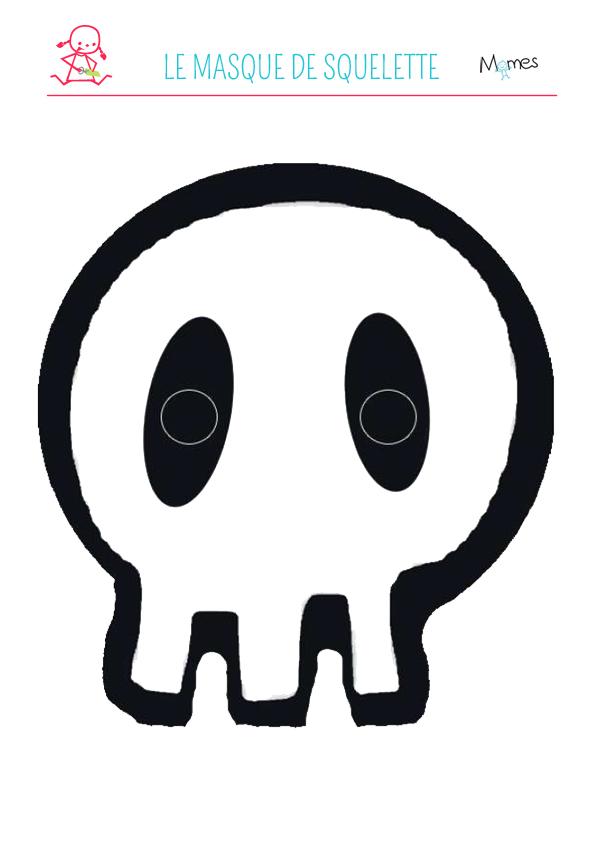 Masque de squelette à imprimer