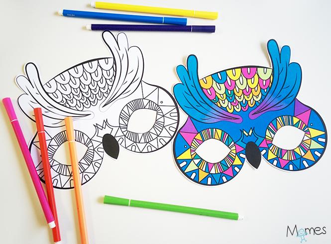 masque de hibou à imprimer