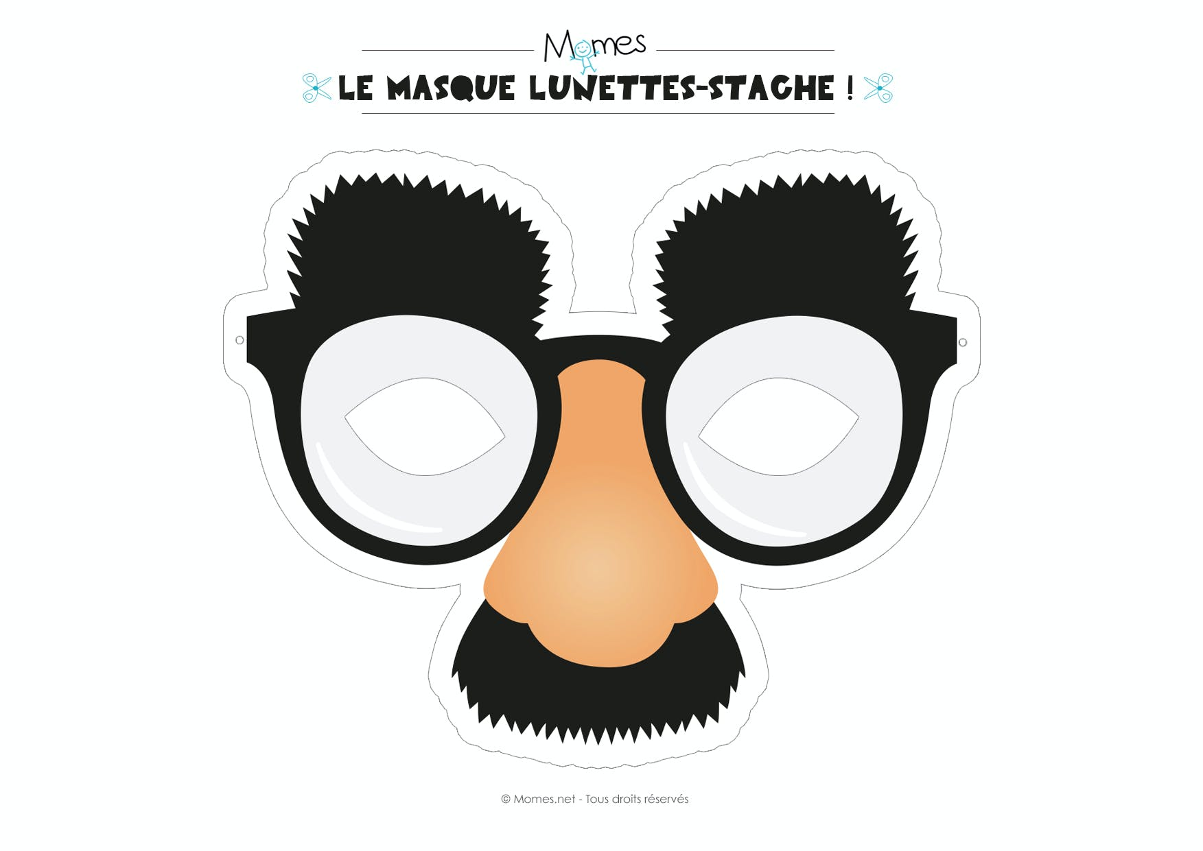 masque moustache