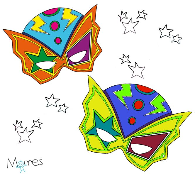 masque super héros à colorier
