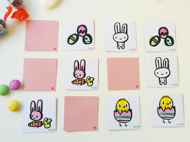 jeu de pâques à imprimer