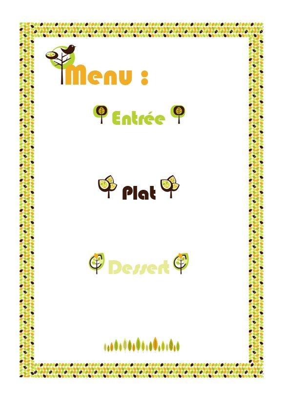 Célèbre Menu automne à imprimer - Momes.net PQ32