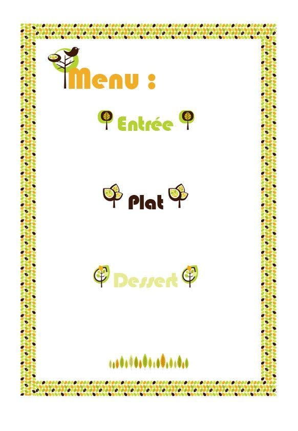 menu automne à imprimer