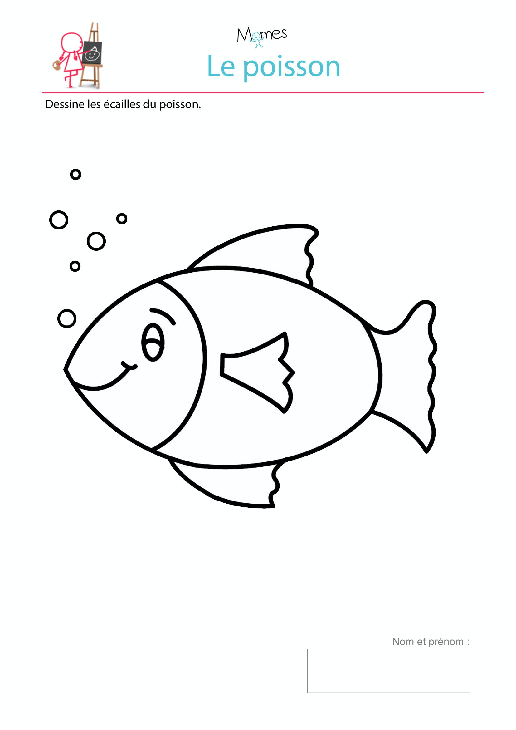 Mod le de poisson imprimer dessiner les cailles - Image de poisson a imprimer ...