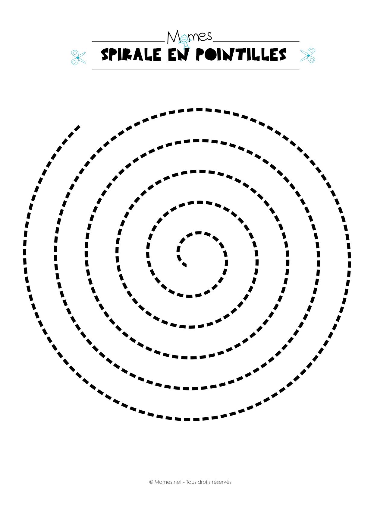 Populaire Modèle de spirale en pointillés - Momes.net IR91
