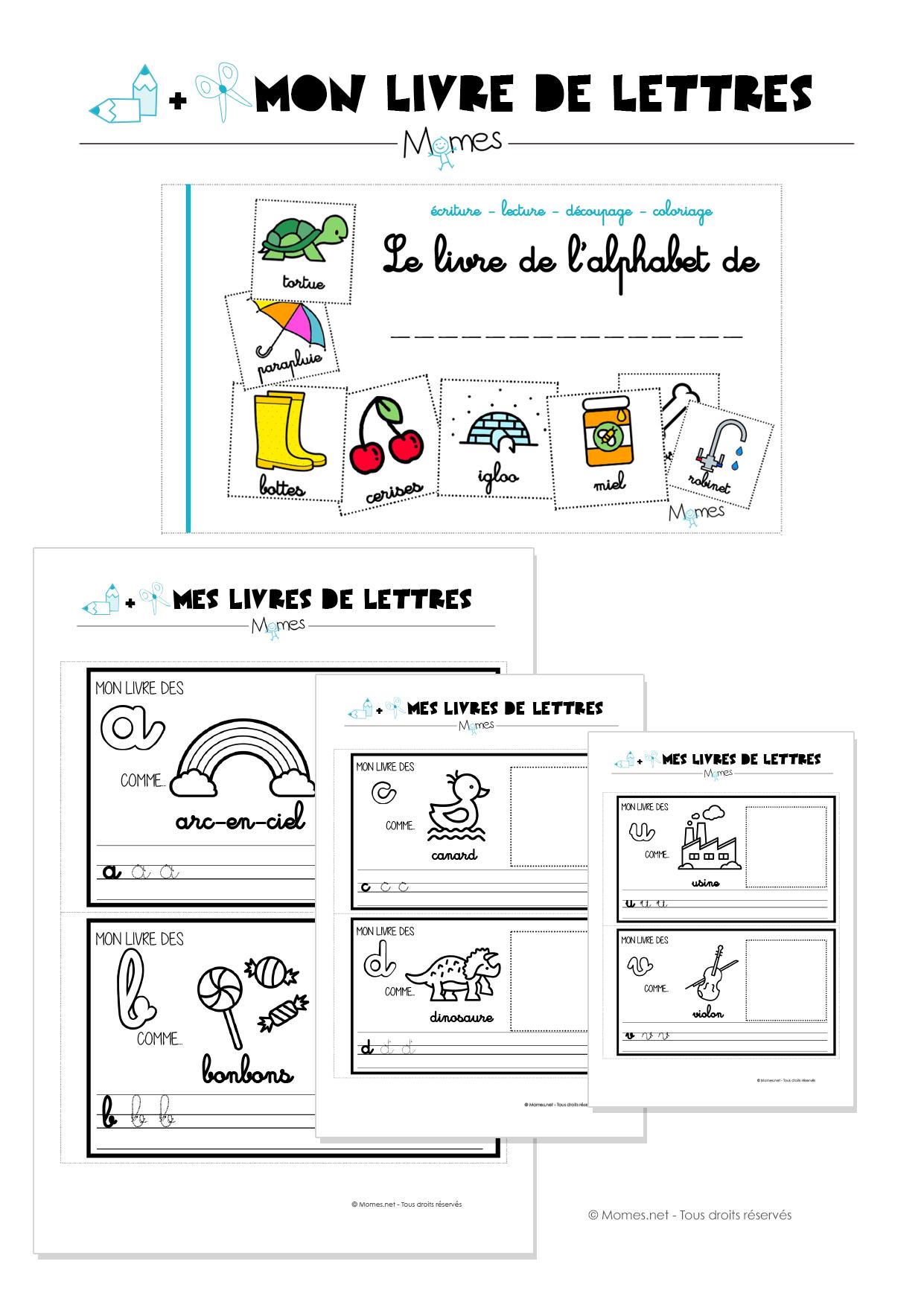Mon livre d 39 alphabet en lettres cursives - L alphabet en francais a imprimer ...