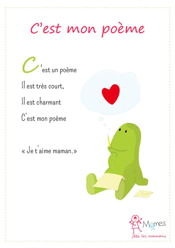 mon poème pour la fete des mamans