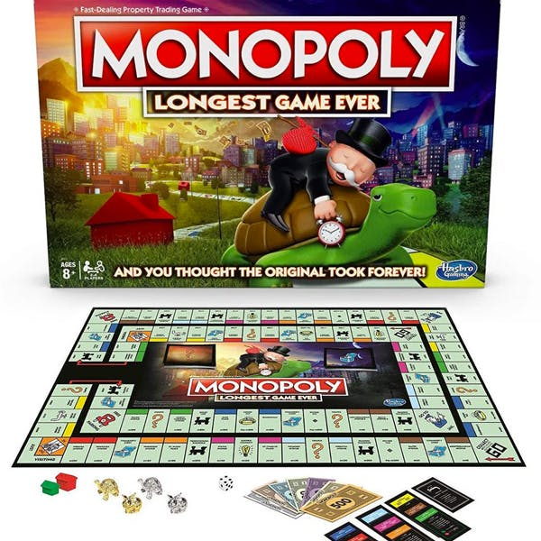 monopoly version longue double plateau longest game ever hasbro