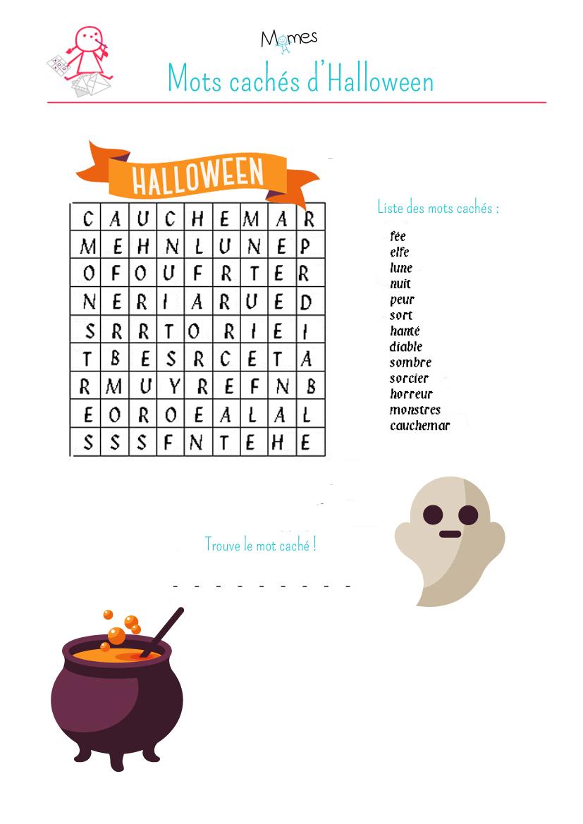 Mots cachés d'Halloween 2 à imprimer