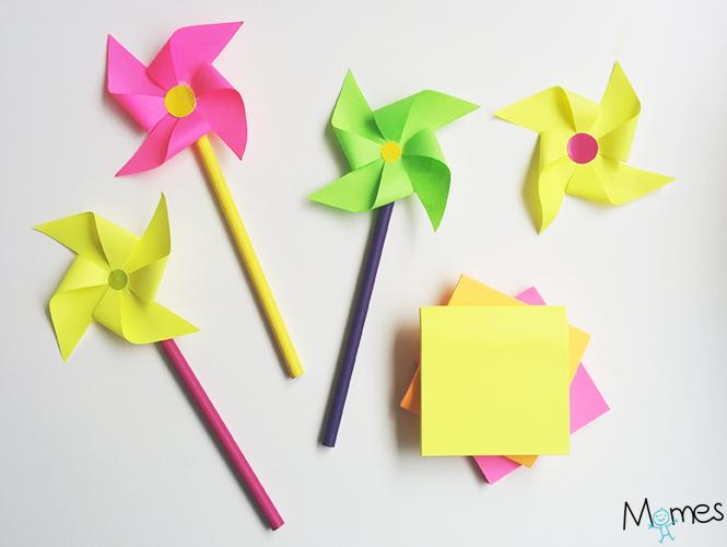 fabriquer un moulin en papier facile