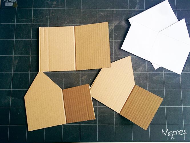 Fabriquer une maison de pain d 39 pices en carton - Patron maison en carton ...