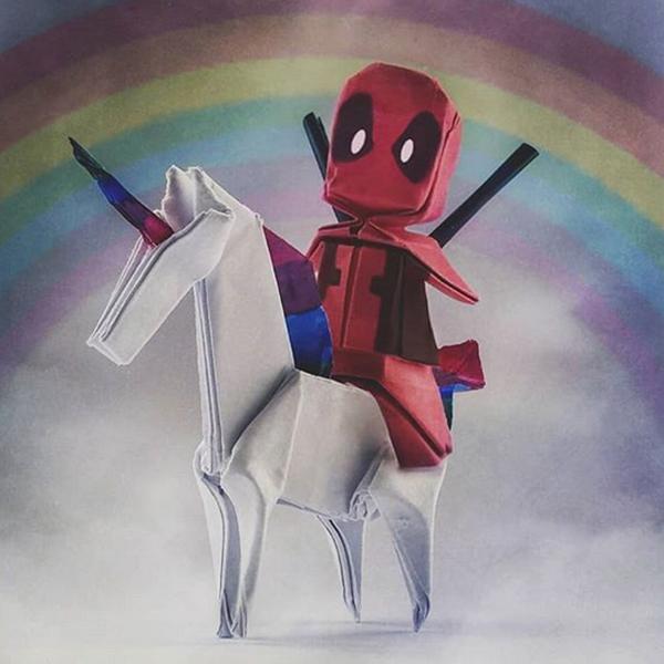 personnages origami héros préférés Louise Cassidy