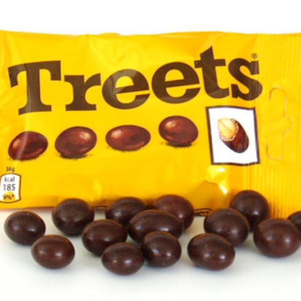 Treets le retour bonbons cacahouète chocolat années 80 Lutti