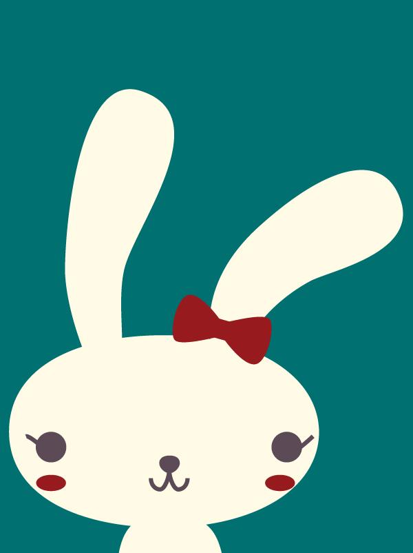 Nous sommes 2 petits lapins