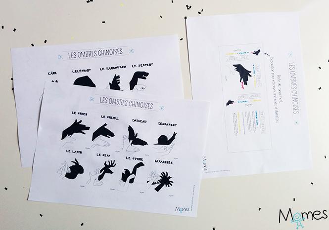 ombres chinoises à imprimer