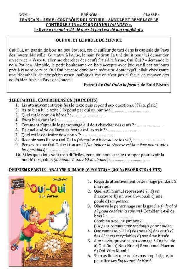 oui oui à la ferme OuiOuiGate_interro-_Oui_Oui_prof_francais_eleves_5eme_college