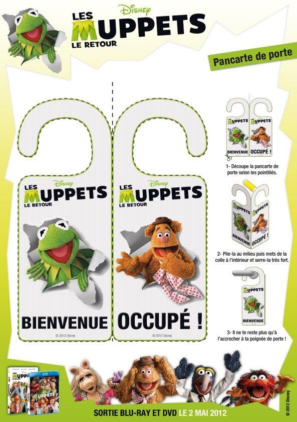 pancarte de porte les muppets bienvenue. Black Bedroom Furniture Sets. Home Design Ideas