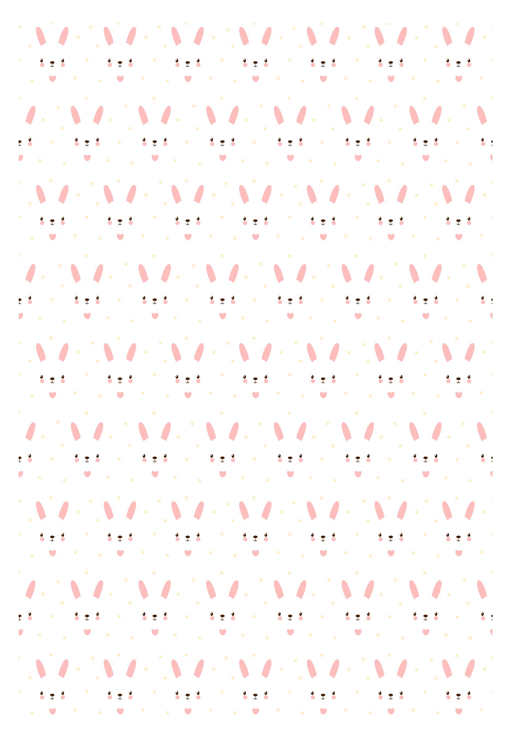 Super Papier à motif lapins roses à imprimer - Momes.net GM46