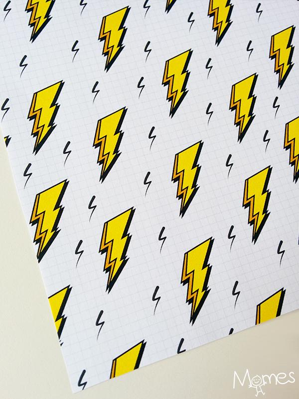 Papier à motifs éclairs à imprimer