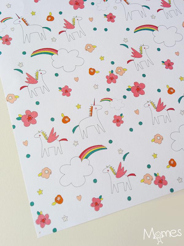 Beliebt Papier à motifs licornes à imprimer - Momes.net DF27