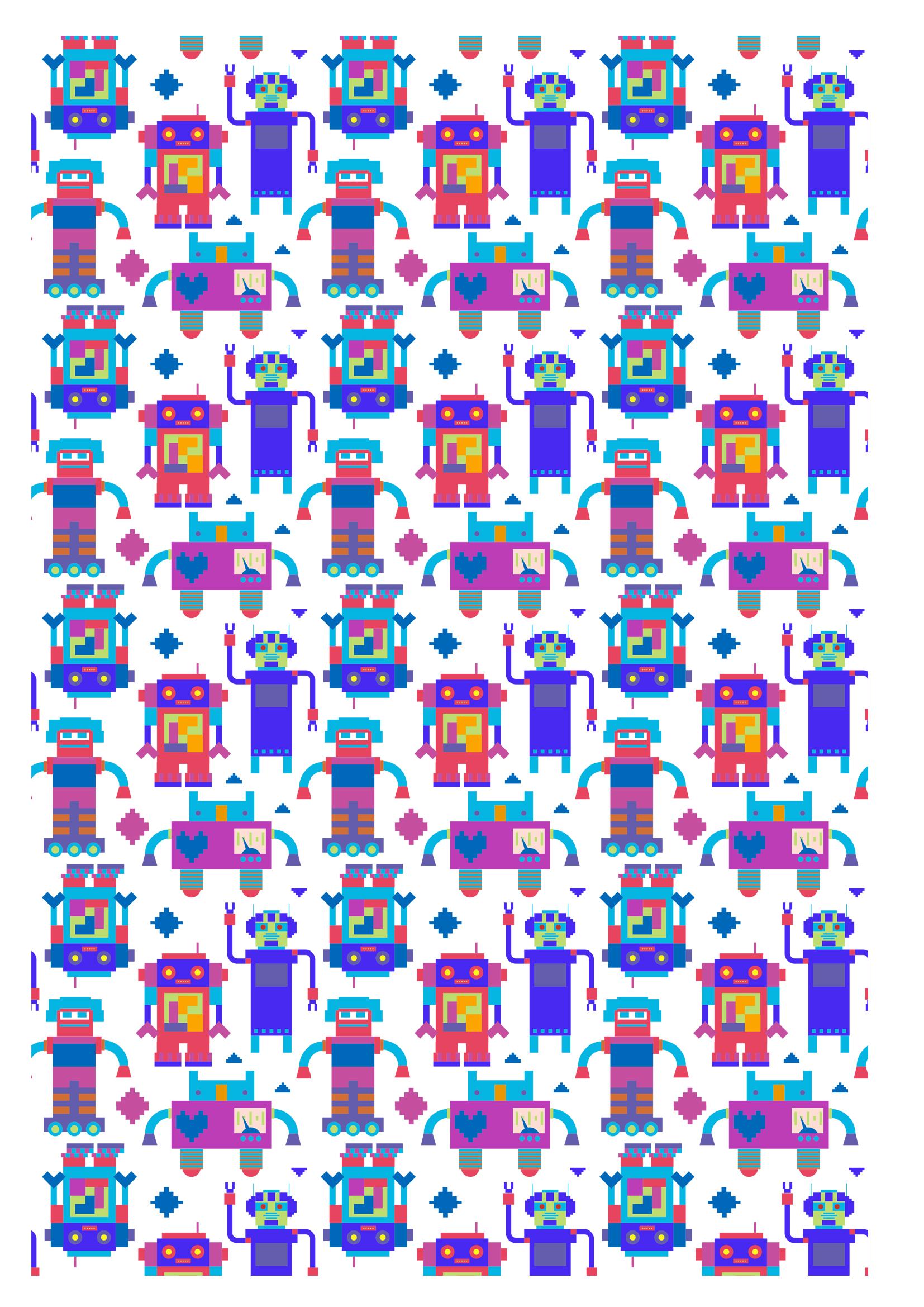 motifs robot à imprimer