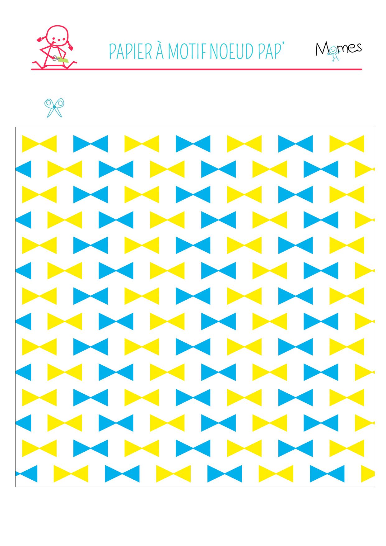 Papier motif noeuds papillon à imprimer