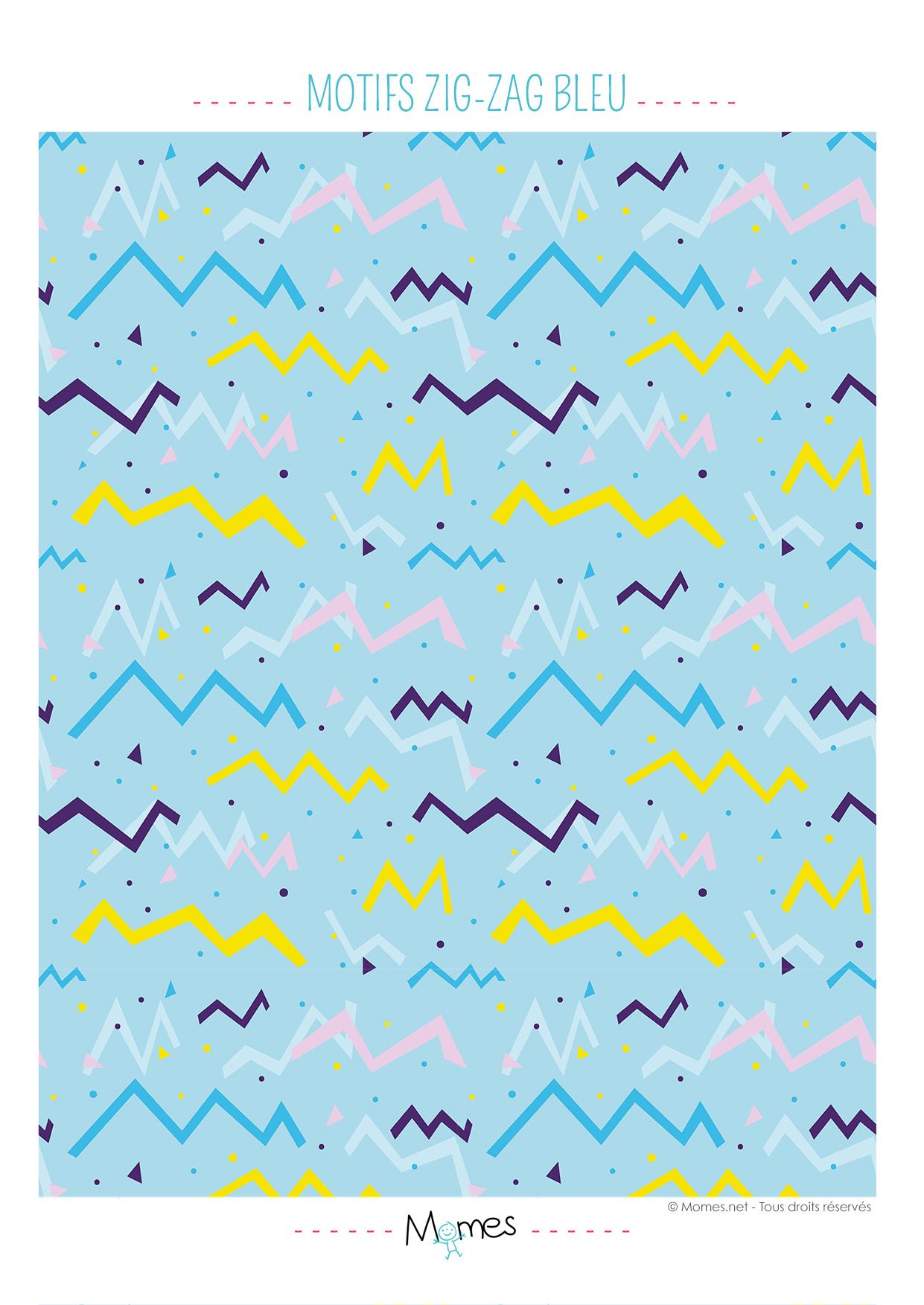 Papier motifs zig zag bleu imprimer - Motif de noel a imprimer ...