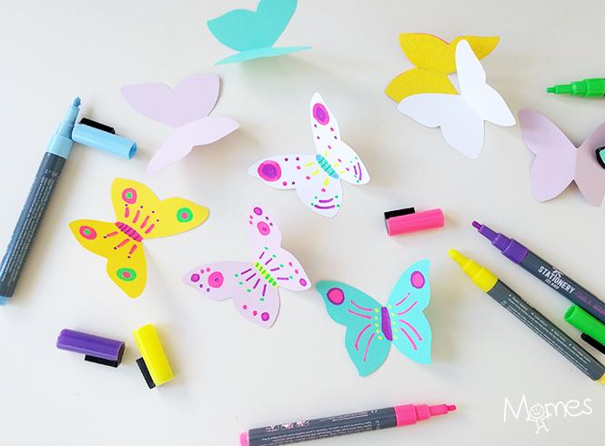 bricolage papillon maternelle