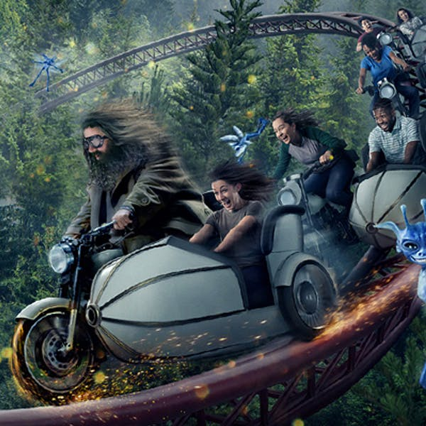 attraction Hagrid moto rollercoaster parc Harry Potter Orlando